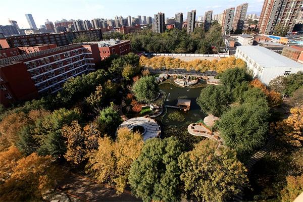 首都经济贸易大学俯视图